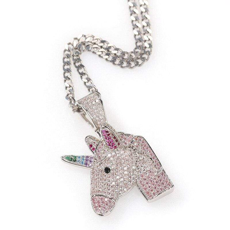 iced out unicorn jewelry
