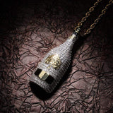 iced out champagne bottle gold