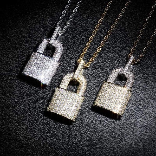 Iced Out Lock Necklace