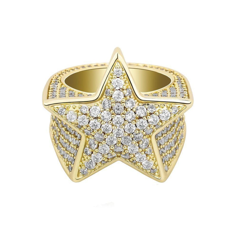 Micro Paved Star Ring