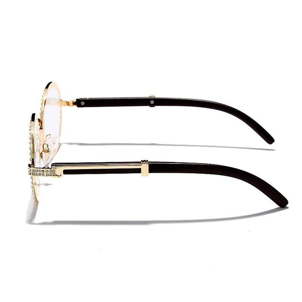 Iced Out Glasses <br> Miami <br> (Gold)