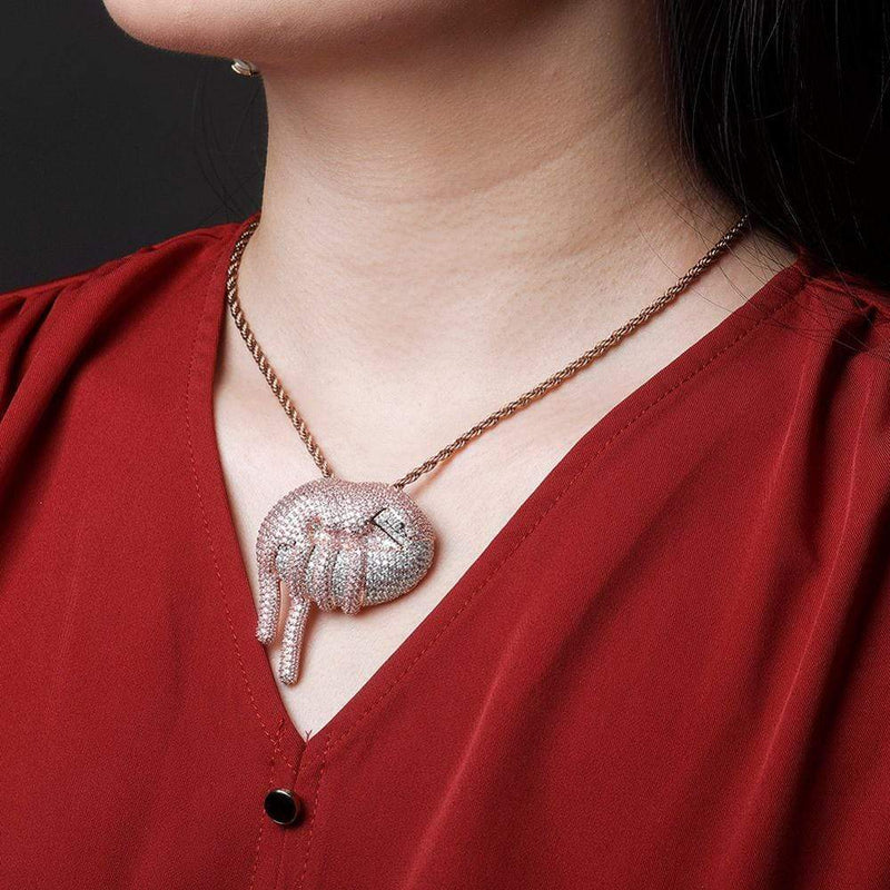 Dripping Lip Pendant
