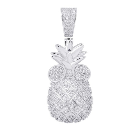 Iced Out Pineapple Pendant
