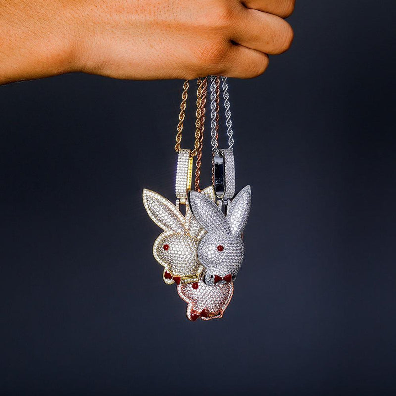 Iced Out Pendant <br> Bunny <br> (18K Gold)