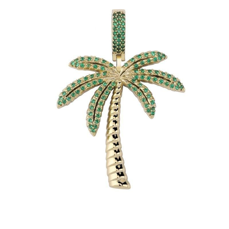 Iced Out Palm Tree Pendant