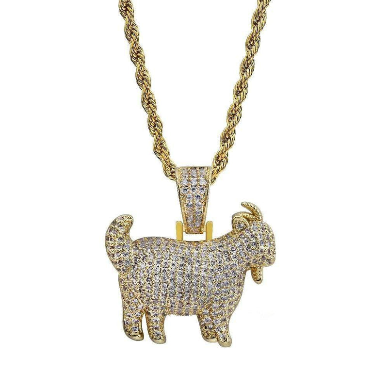 Iced Out Goat Pendant