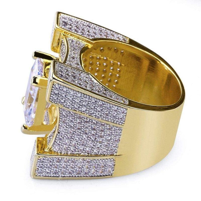 Iced Out Diamond Hip hop Ring