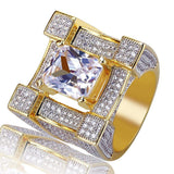 Iced Out Bling Solitaire Ring