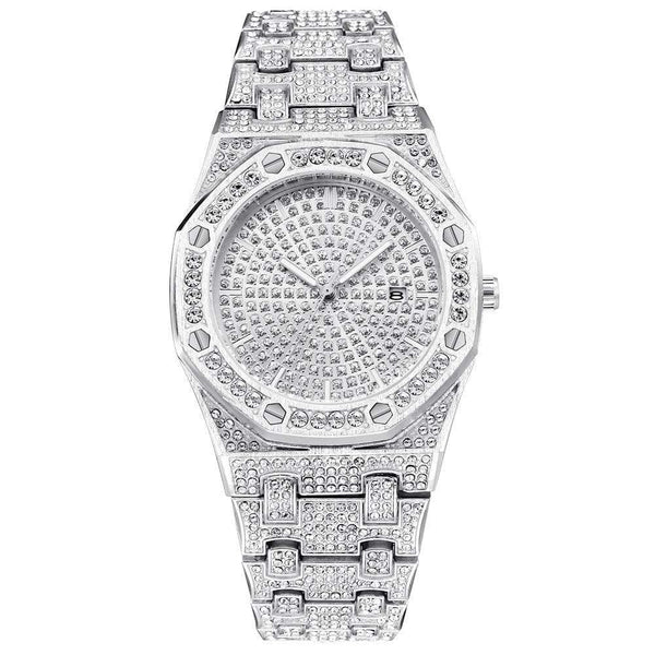 Iced Out Watch <br> Luxury AP <br> (White Gold)