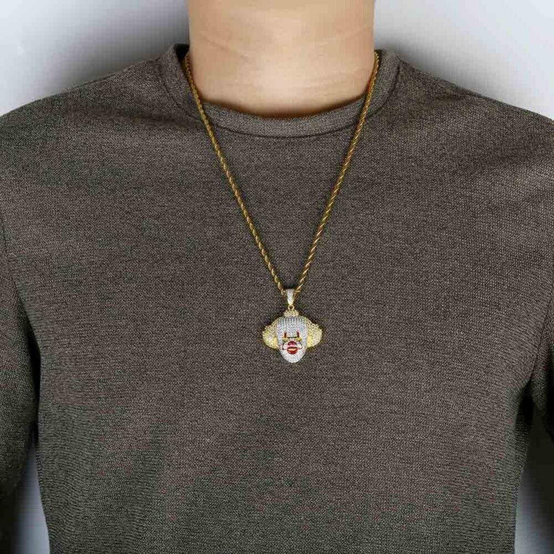 iced out pennywise necklace