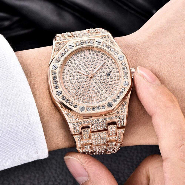 Iced Out Watch <br> Luxury AP <br> (Rose Gold)