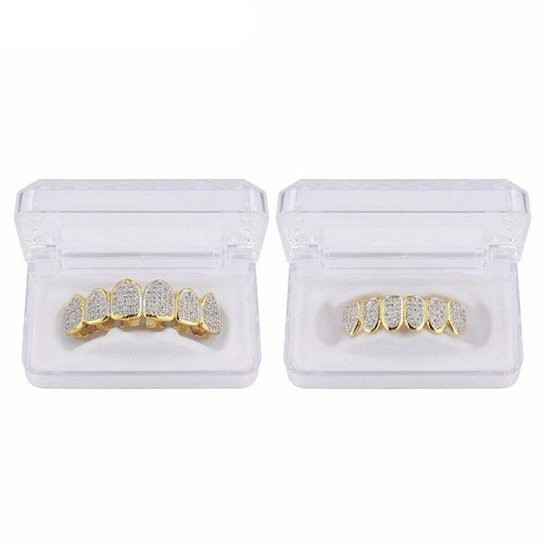 Iced Out Grillz <br> Frozen Teeth <br> (Gold)