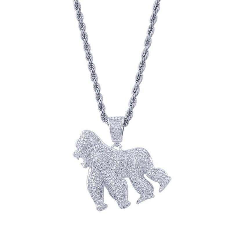 Iced Out Gorilla Pendant