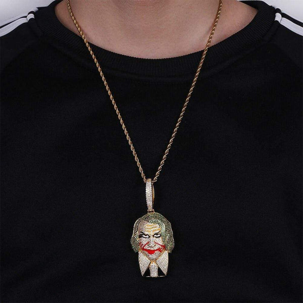 Iced Out Joker Necklace