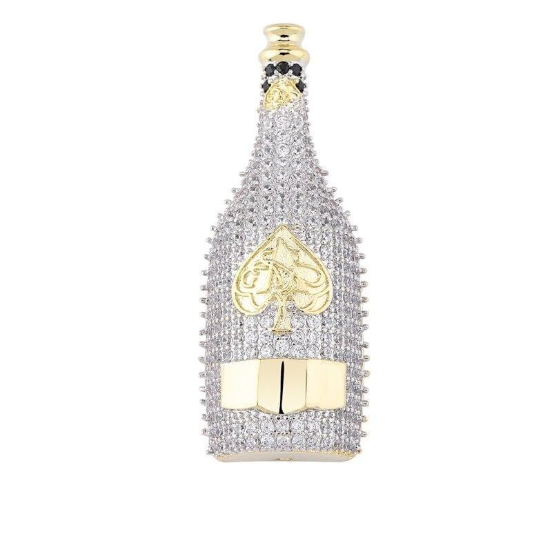 iced out champagne bottle