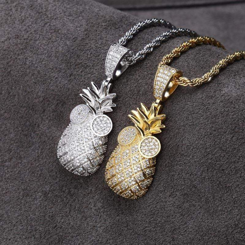 Iced Out Pineapple Chain