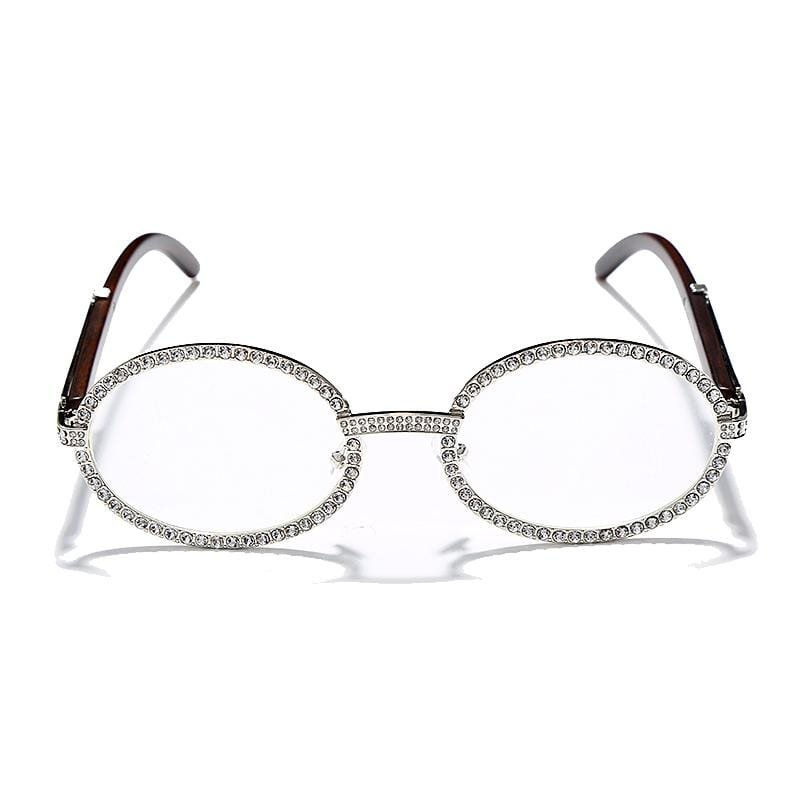 Iced Out Glasses <br> Miami <br> (Silver)