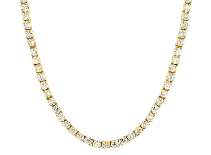 Iced Out Chain <br> Tennis 5mm <br> (18K Gold)