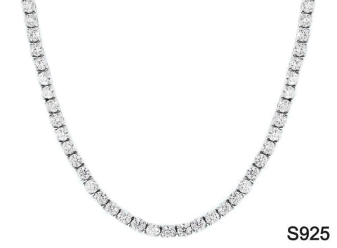 Iced Out Chain <br> S925 Tennis 6mm <br> (White Gold)