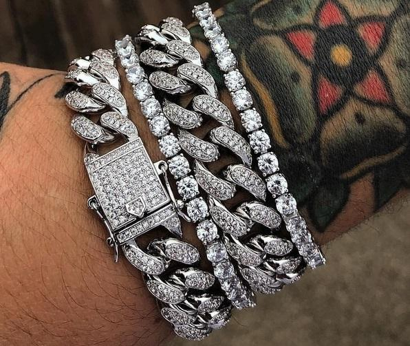 Iced Out Cuban and tennis bracelet