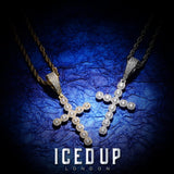 Iced Out Pendant <br> Diamond Cross <br> (18K Gold)