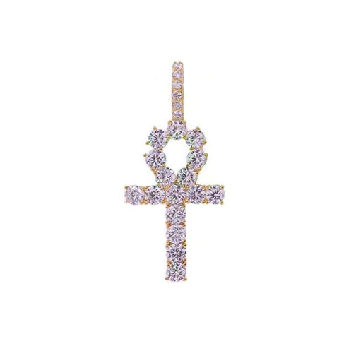 Iced Out Ankh Pendant