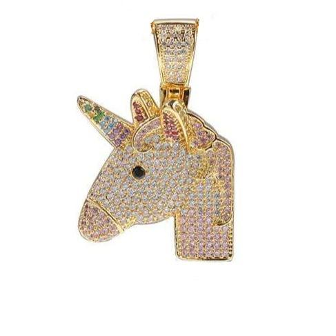 Iced Out Unicorn Pendant