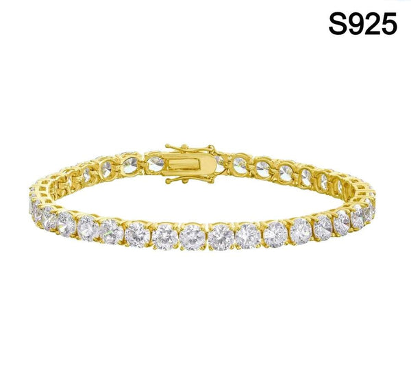 Iced Out Sterling Silver Tennis Bracelet