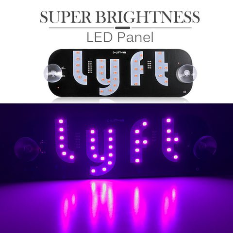 High Visibility Lyft LED Sign