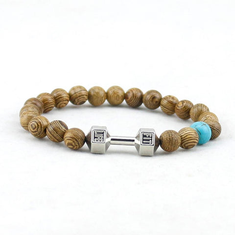 Wood beads Dumbbell Bracelet