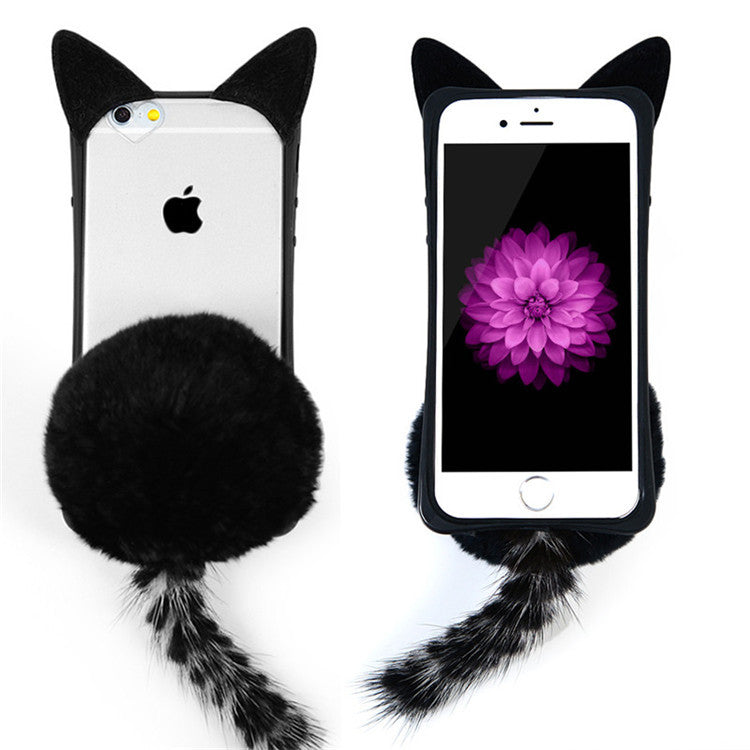 Furry Cat Tail Case Cover