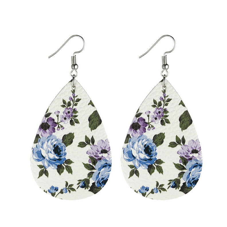 Flower Leather Earrings