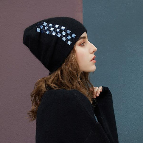 Cashmere Beanie With A Touch Of Elegance - dare to wear your hair