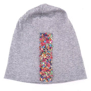 Colorful Rhinestones And Ribbon Beanie - dare to wear your hair