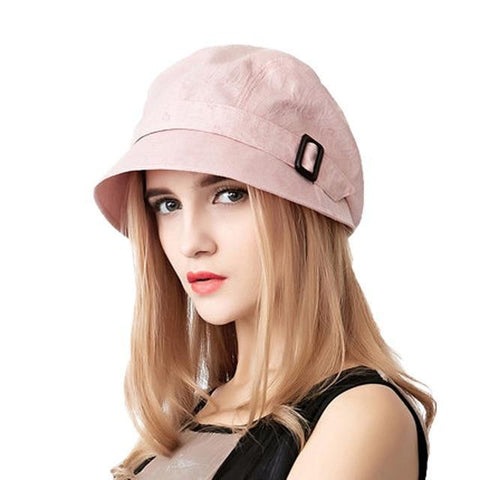 Cool Cotton Wide Brim Sun Hat - dare to wear your hair