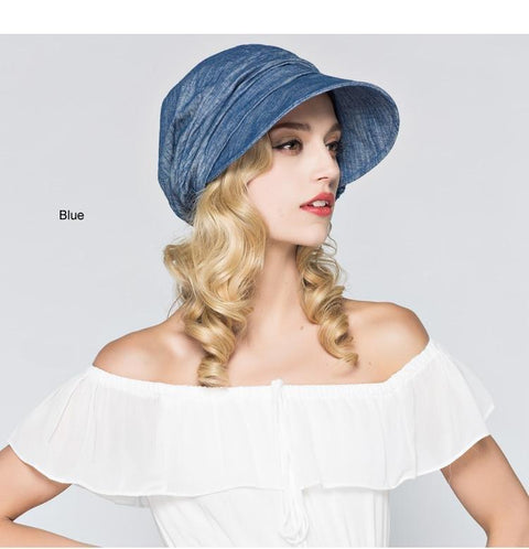 Cotton Casual Wide Brim Sun Hat - dare to wear your hair
