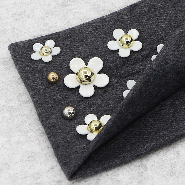 Cotton Pearls and Flowery Headband - dare to wear your hair