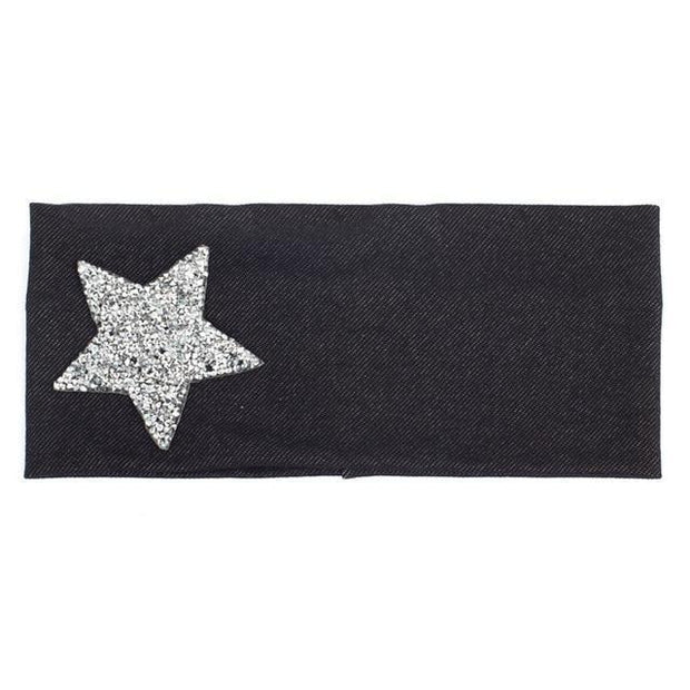 Denim Stretch Star Headband - dare to wear your hair