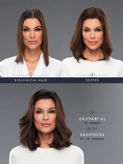 "easiPieces - 12"" Length 4"" Width - dare to wear your hair"