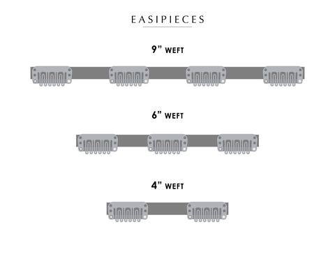 "easiPieces - 8"" Length 4"" Width - dare to wear your hair"