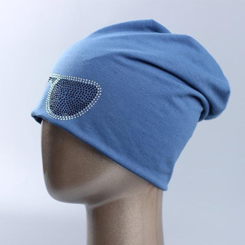 Funky Spring Sunglasses Beanie With Rhinestones - dare to wear your hair