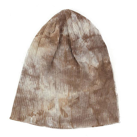Casual Cotton Ribbed Tie Dye Beanies - dare to wear your hair