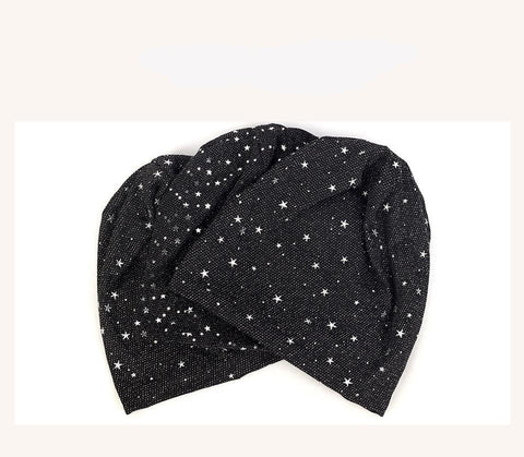 Geebro Women Star Fashion Hats And Caps Soft Thin Cotton Slouch Skullies Beanies hats Ladies Comfortable Oversize Hat - dare to wear your hair