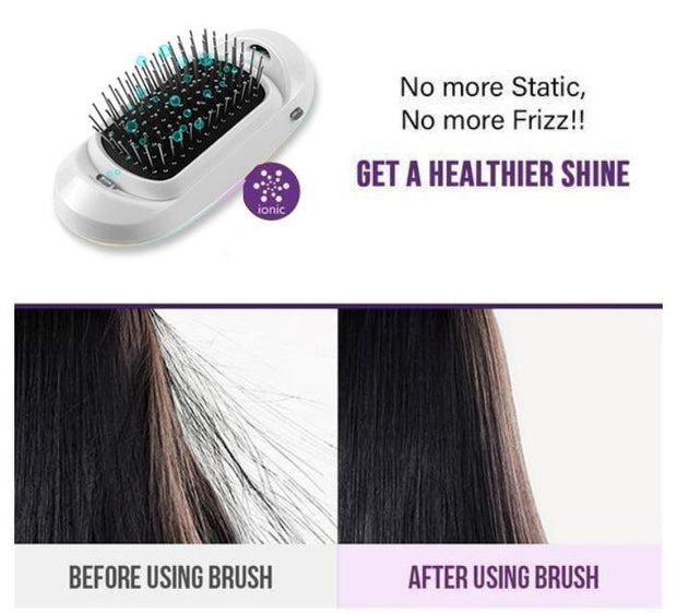 Ionic Electric Hairbrush - dare to wear your hair