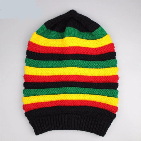 Jamaican style winter hat - dare to wear your hair