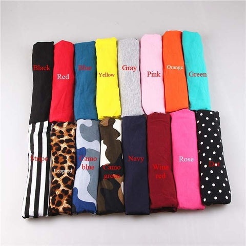 Cotton Elastic Wide Sports Headbands - dare to wear your hair