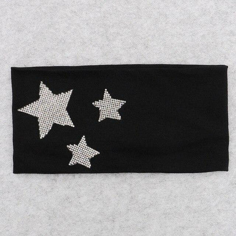 Stars on Earth Wide Cotton Headband - dare to wear your hair