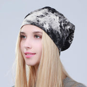 Tie Dye Slouchy Beanie Cotton Hat - dare to wear your hair
