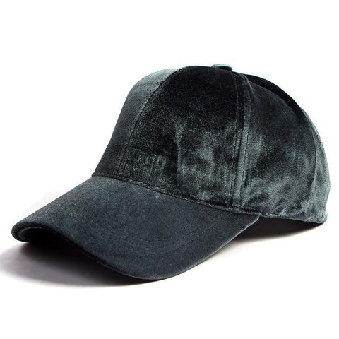 Velvet Baseball Cap - dare to wear your hair