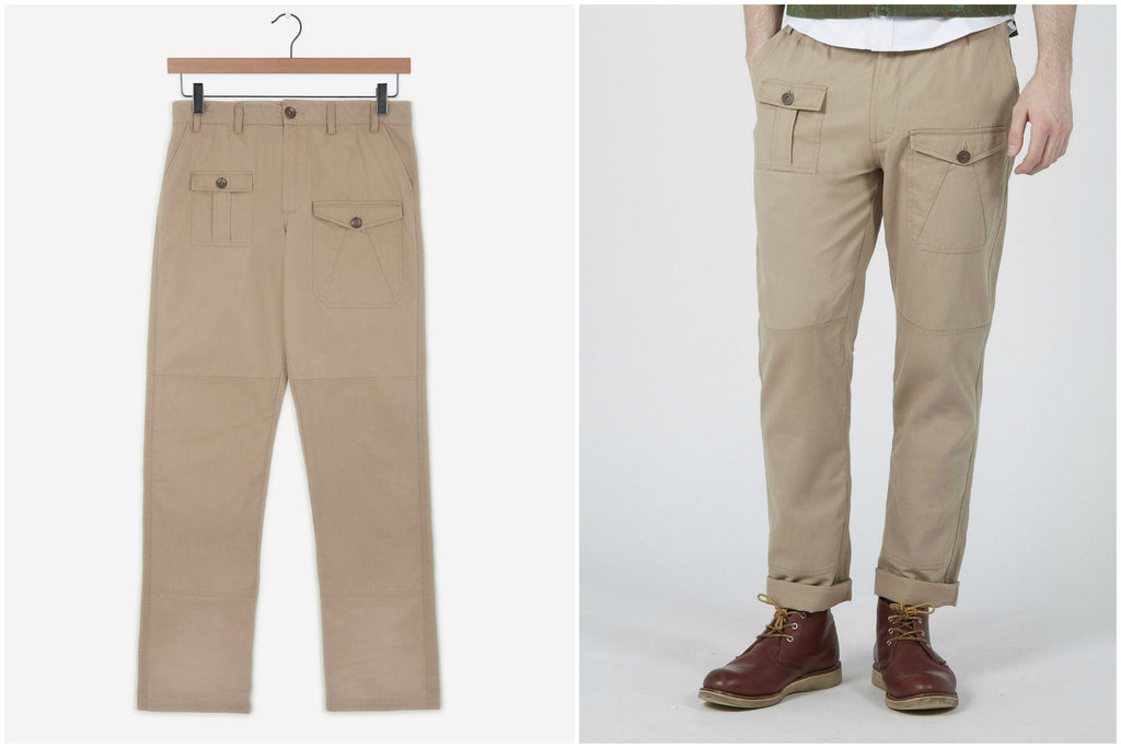 Chino Combat Trousers (Stone) | Realm & Empire